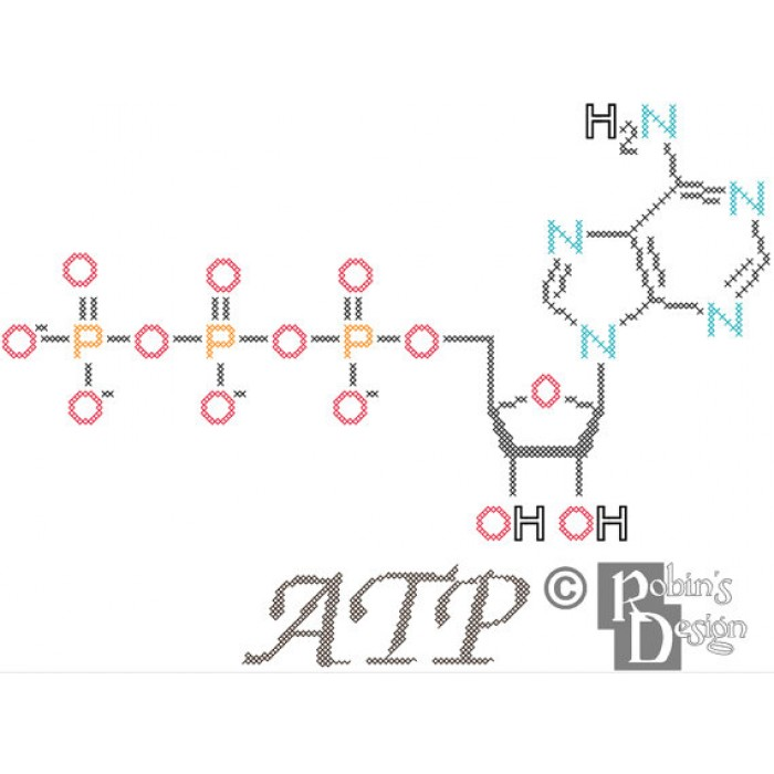 ATP Molecule Cross Stitch Pattern PDF