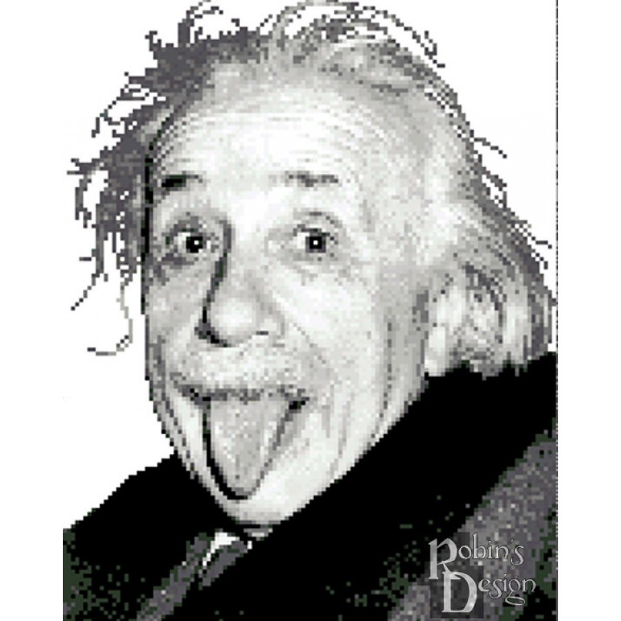 Albert Einstein Cross Stitch Pattern PDF