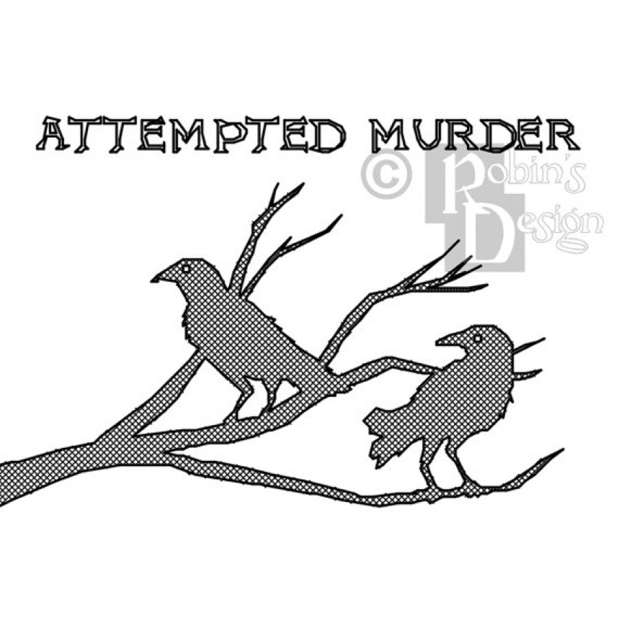 Attempted Murder of Crows Cross Stitch Pattern PDF