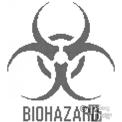 Biohazard Cross Stitch Pattern PDF Download