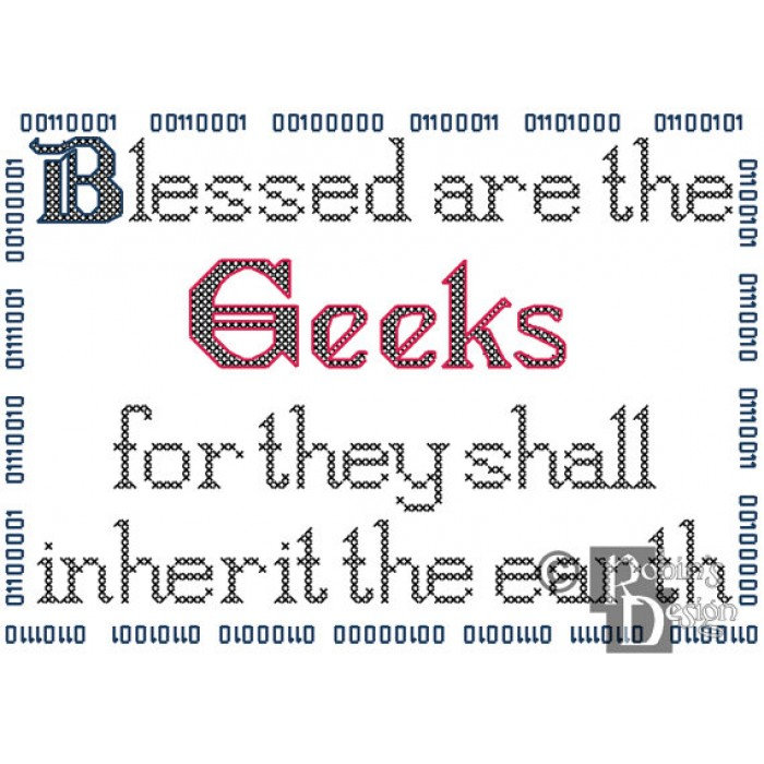 Blessed are the Geeks Cross Stitch Pattern PDF