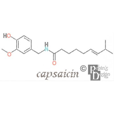 Capsaicin Molecule Cross Stitch Pattern PDF Download