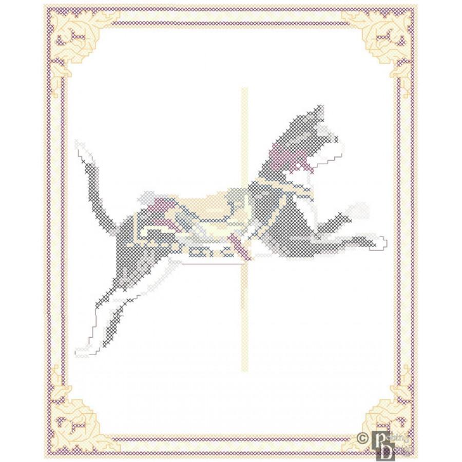 Carousel Cat Cross Stitch Pattern Herschell-Spillman PDF Download