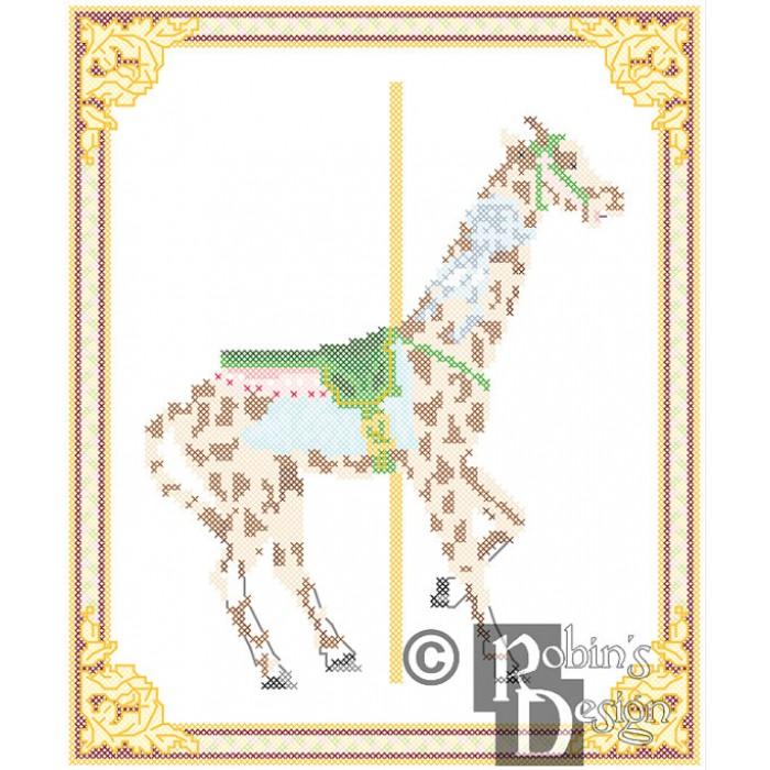 Carousel Giraffe Cross Stitch Pattern Herschell-Spillman Myrtle Beach SC PDF