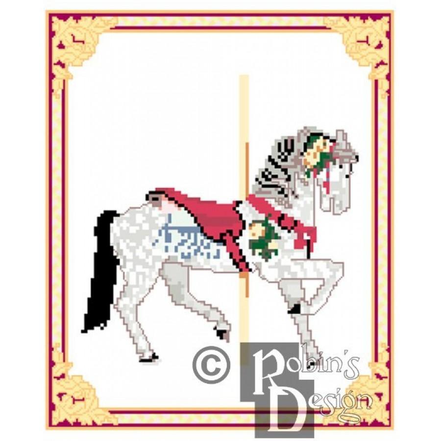 Carousel Horse Cross Stitch Pattern Herschell-Spillman Myrtle Beach, SC PDF