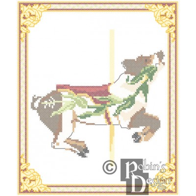 Carousel Pig Cross Stitch Pattern Herschell-Spillman, Golden Gate Park, San Francisco, CA PDF