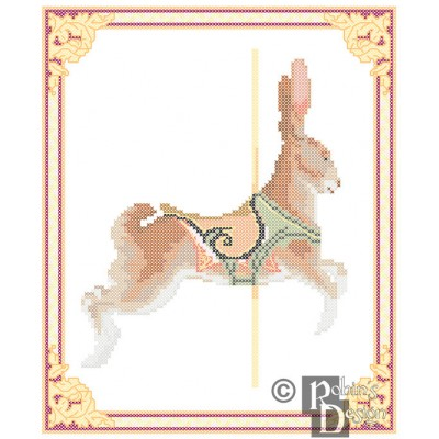 Carousel Rabbit , Dentzel, Glenn Echo Park, MD Cross Stitch Pattern PDF