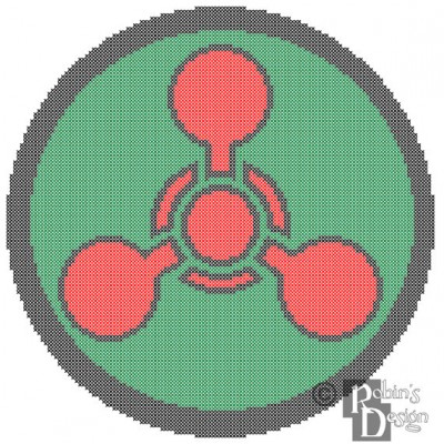 Chemical Hazard Symbol Cross Stitch Pattern PDF Download