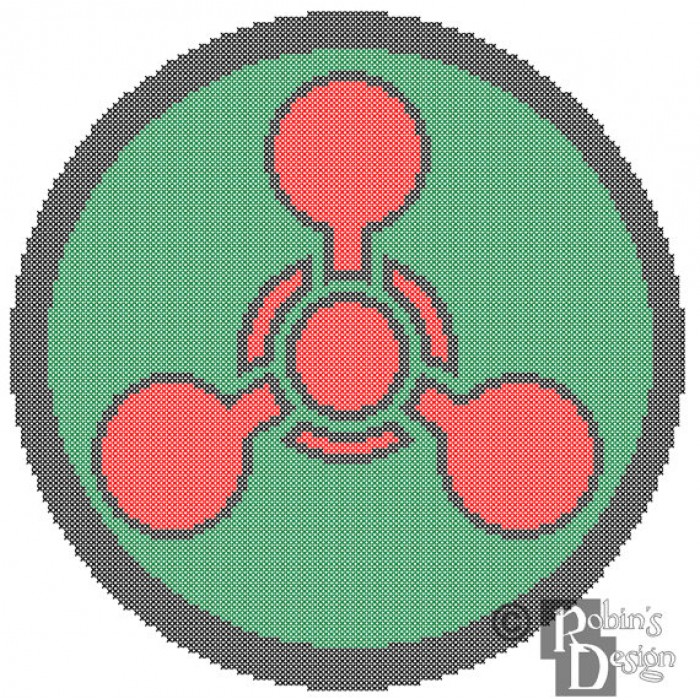 Chemical Hazard Symbol Cross Stitch Pattern PDF