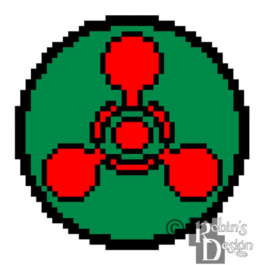 Chemical Hazard Symbol Cross Stitch Pattern for Shirt Patch PDF