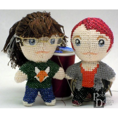 Custom Mini Doll Cross Stitch Sewing Pattern from Your Photo PDF