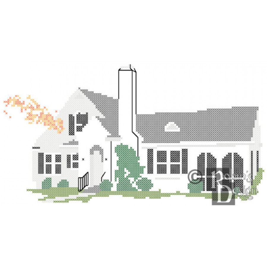 Custom Pattern of Your Home for Cross Stitch PDF