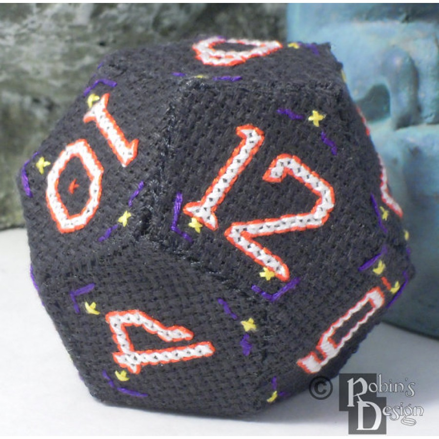 D12 Dodecahedron 3D Cross Stitch Sewing  Pattern PDF