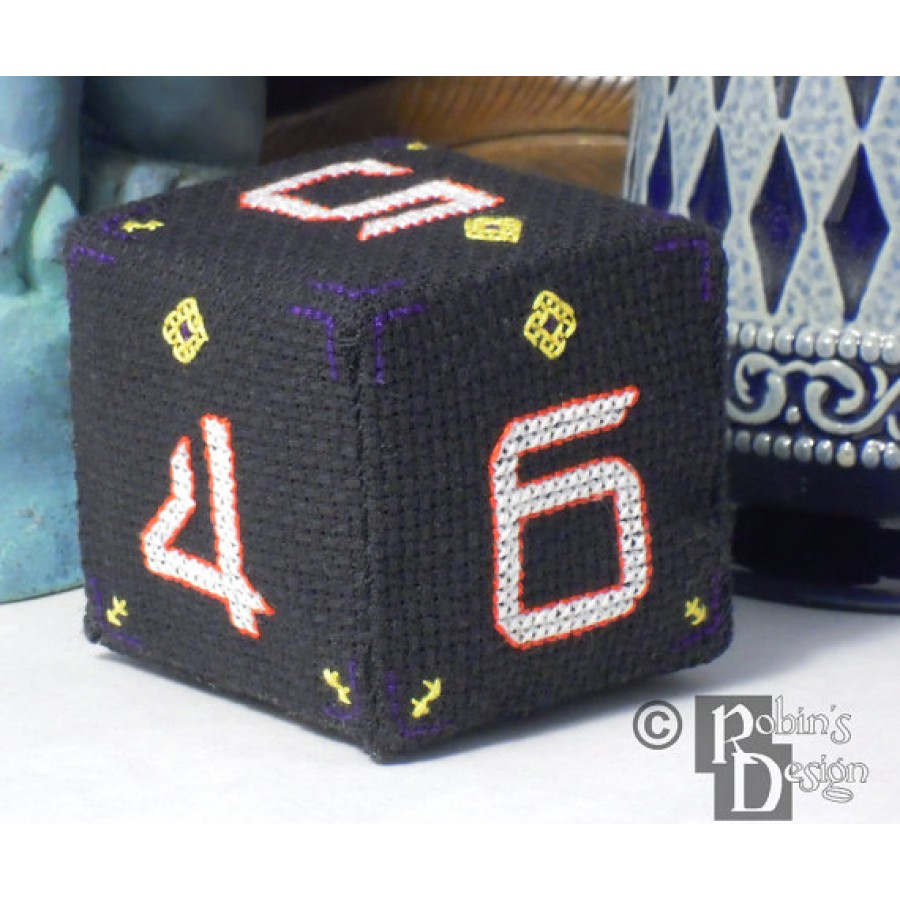 D6 Cube 3D Cross Stitch Sewing Pattern PDF