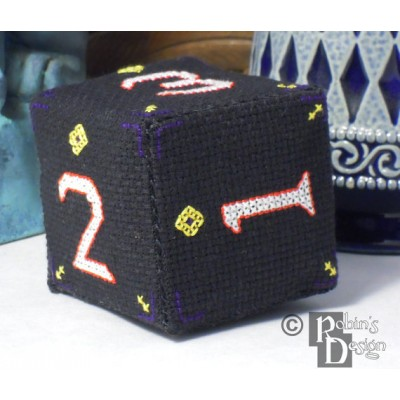 D6 Cube 3D Cross Stitch Sewing Pattern PDF