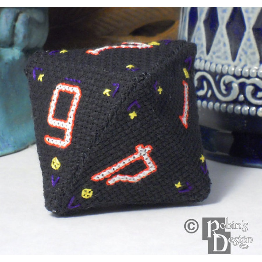 D8 Octahedron 3D Cross Stitch Sewing  Pattern PDF Download