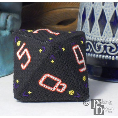 D8 Octahedron 3D Cross Stitch Sewing  Pattern PDF