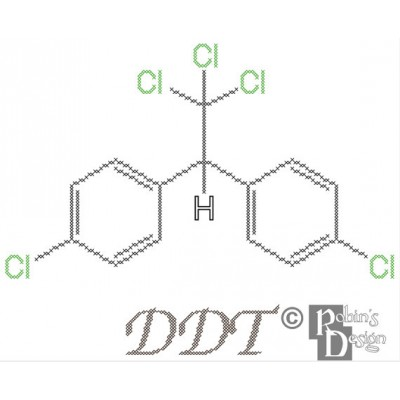 DDT Molecule Cross Stitch Pattern PDF Download