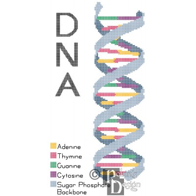 DNA Strand Cross Stitch Pattern PDF