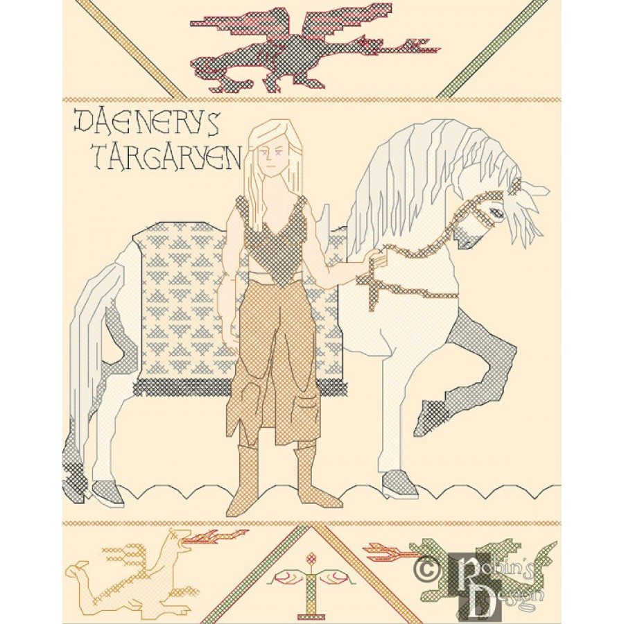 Daenerys Bayeux Tapestry Cross Stitch Pattern PDF
