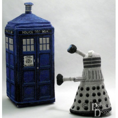 Dalek Doll 3D Cross Stitch Sewing Pattern PDF Download