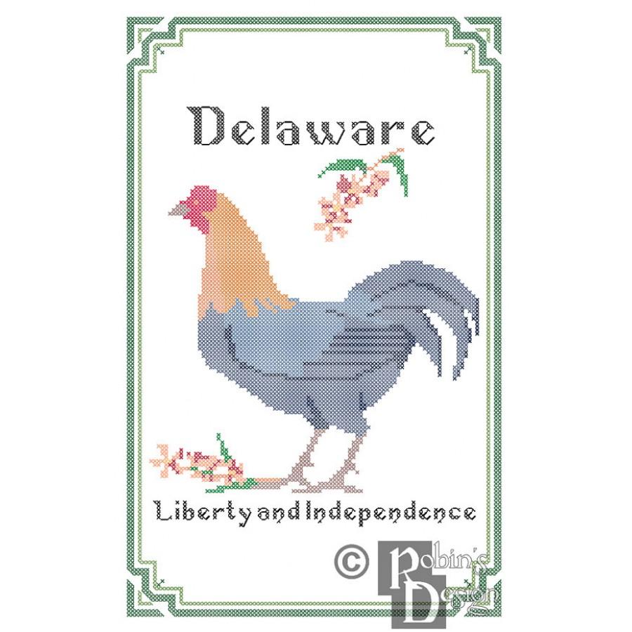 state bird flower and motto cross stitch pattern pdf