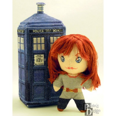 Donna Noble Doll 3D Cross Stitch Sewing Pattern PDF Download