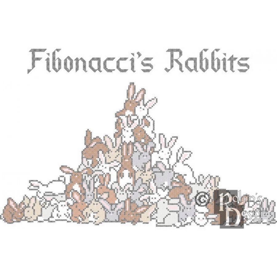 Fibonacci's Rabbits Cross Stitch Pattern PDF