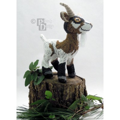 Groat the Goat Doll 3D Cross Stitch Animal Sewing Pattern PDF
