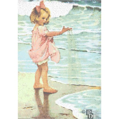 Jessie Willcox-Smith's Little Drops of Water Cross Stitch Pattern PDF