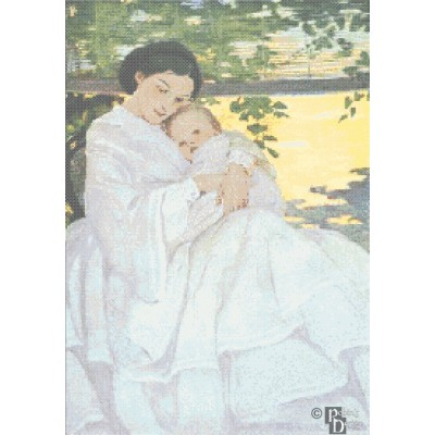 Jessie Willcox-Smith's Sweet and Low Cross Stitch Pattern PDF