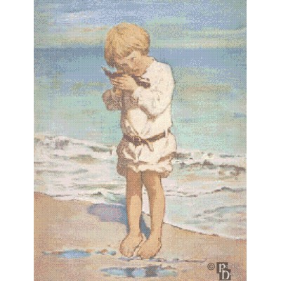 Jessie Willcox-Smith's The Fallen Gull Cross Stitch Pattern PDF Download
