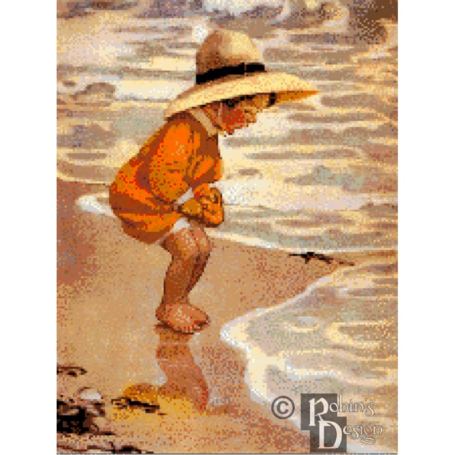Jessie Willcox-Smith's The Sea Blossom Cross Stitch Pattern PDF