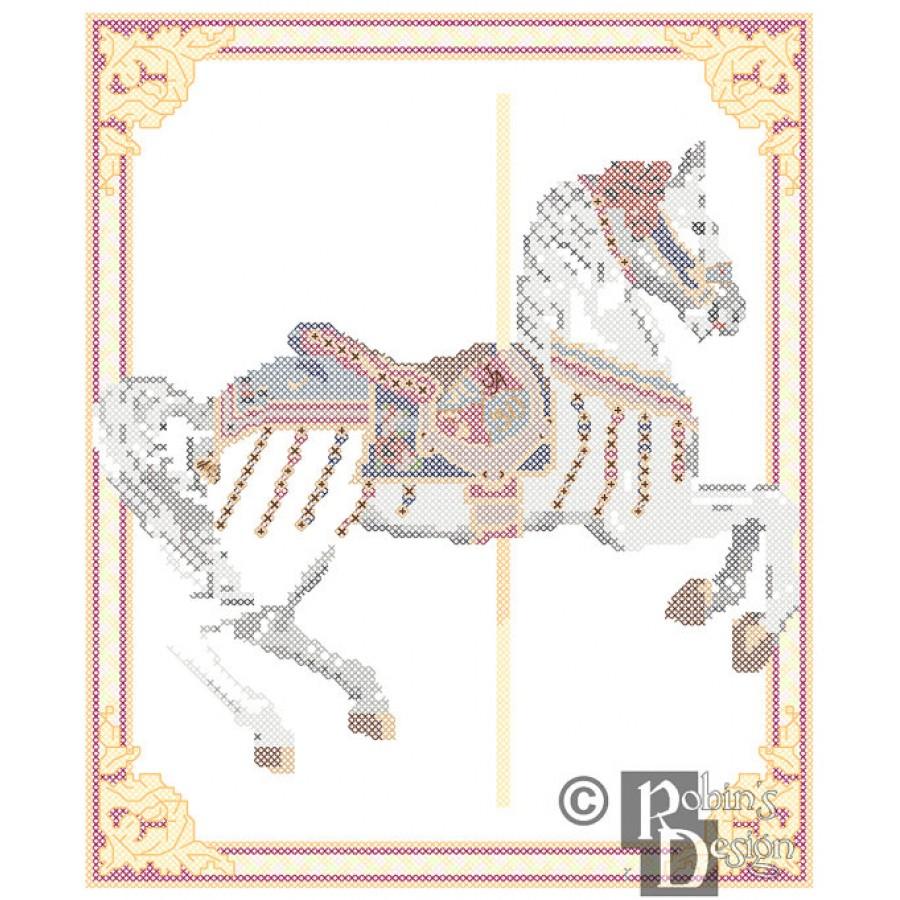 Jingles Carousel Horse Doll 3D Cross Stitch Animal Sewing Pattern PDF