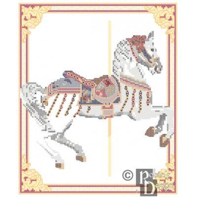 Jingles Disneyland Carousel Horse Cross Stitch Pattern PDF