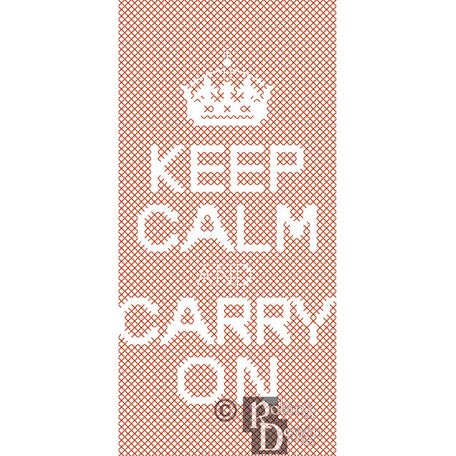 Keep Calm and Carry On iPhone Case Challenging Cross Stitch Pattern PDF