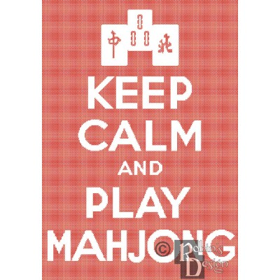 Keep Calm and Play Mahjong Cross Stitch Pattern PDF Download