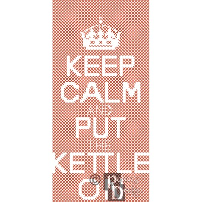 Keep Calm and Put the Kettle On iPhone Case Challenging Cross Stitch Pattern PDF