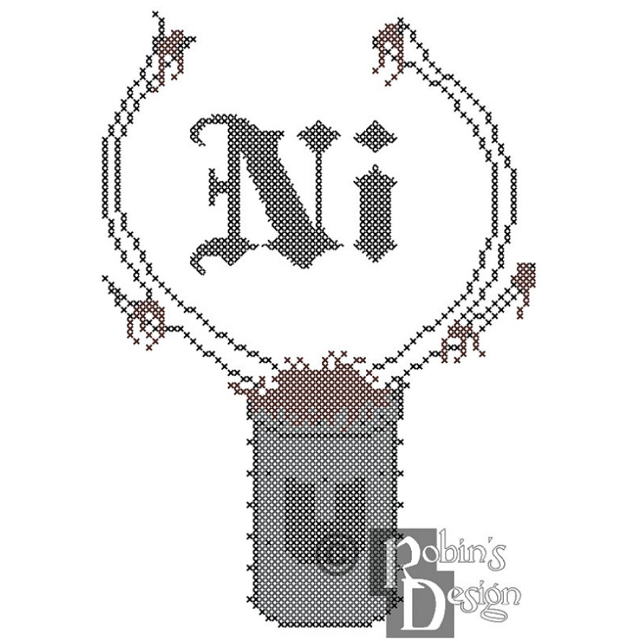 "Knights Who Say ""Ni"" Cross Stitch Pattern PDF"