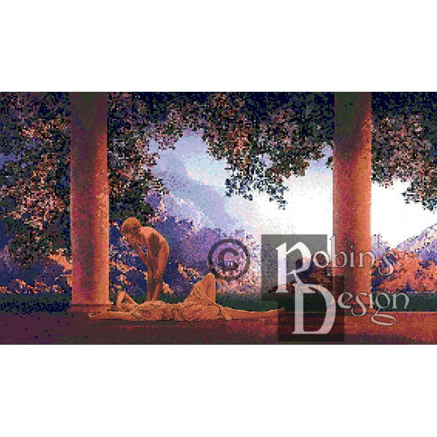 Maxfield Parrish's Daybreak Cross Stitch Pattern PDF