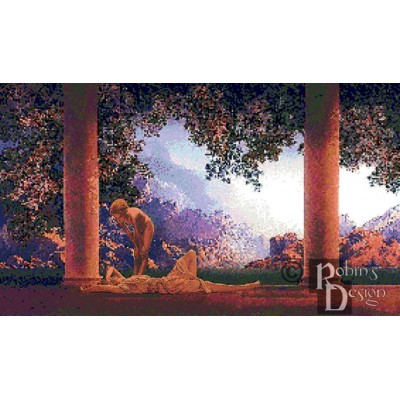 Maxfield Parrish's Daybreak Cross Stitch Pattern PDF Download