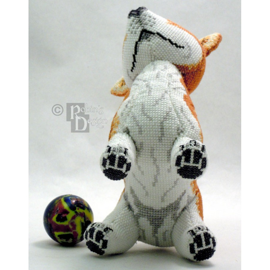 Monty the Pembroke Welsh Corgi Doll 3D Cross Stitch Animal Sewing Pattern PDF