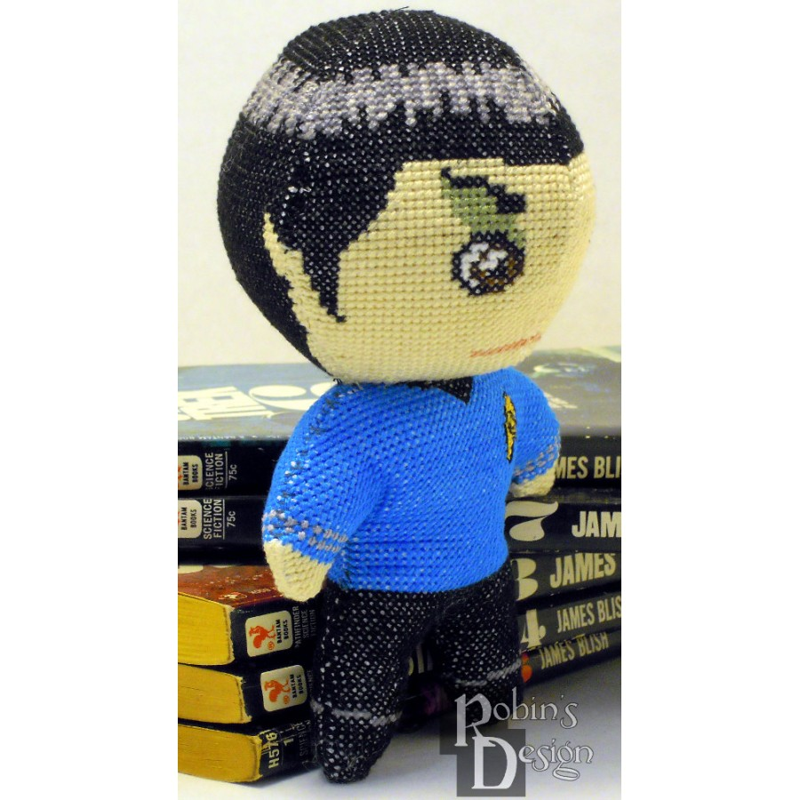 Mr. Spock Doll 3D Cross Stitch Sewing Pattern PDF