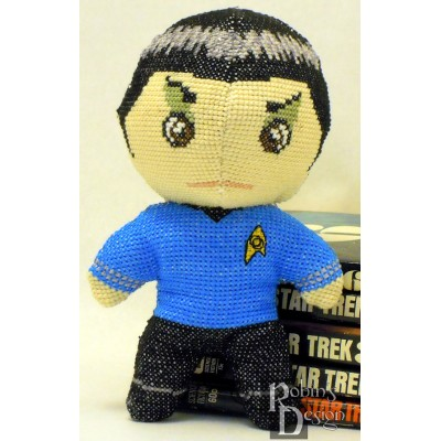 Mr. Spock Doll 3D Cross Stitch Sewing Pattern PDF Download