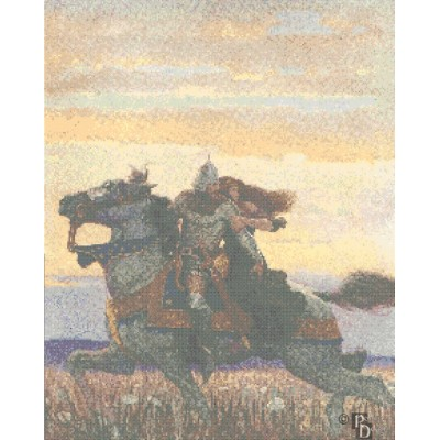 N. C. Wyeth's Joyous Gard Cross Stitch Pattern PDF