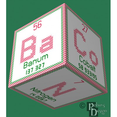 Periodic Element Bacon 3D Ornament Cross Stitch Sewing  Pattern PDF Download