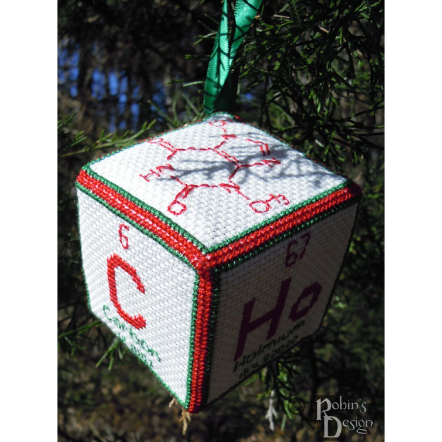 Periodic Element Beer 3D Ornament Cross Stitch Sewing Pattern PDF