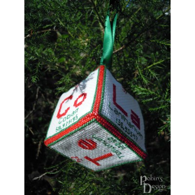 Periodic Element Chocolate 3D Ornament Cross Stitch Sewing  Pattern PDF