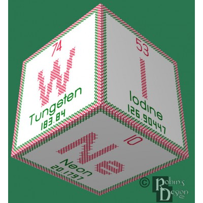 Periodic Element Wine 3D Ornament Cross Stitch Sewing Pattern PDF