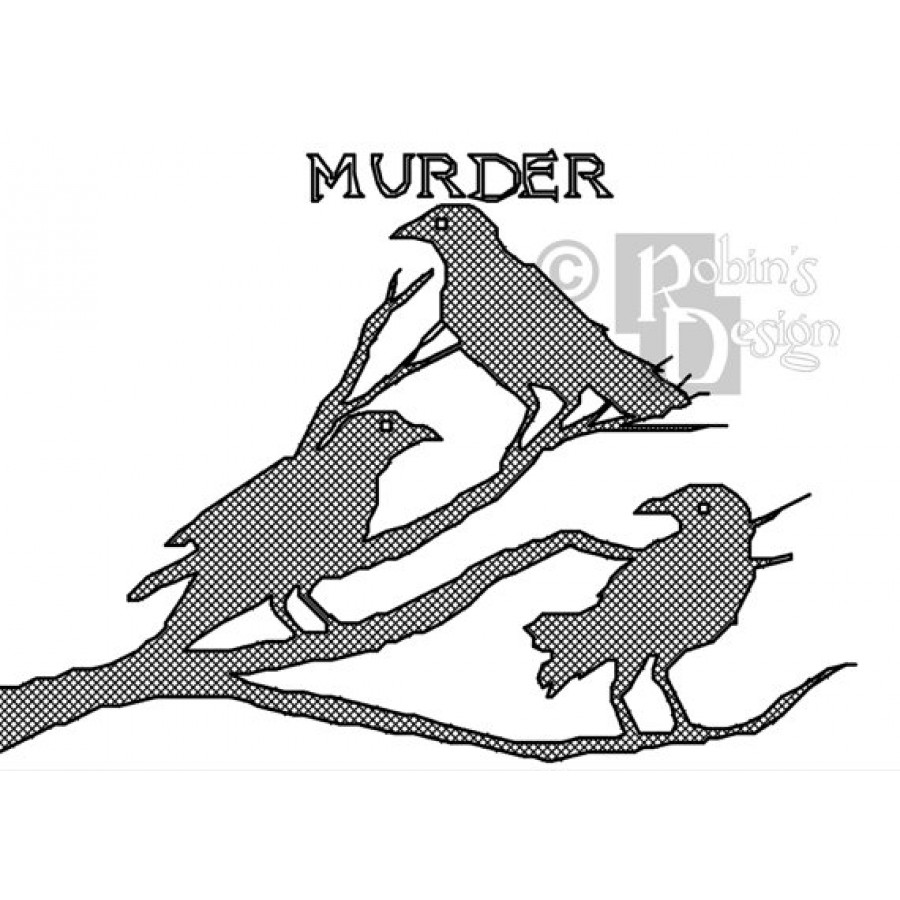Premeditated Murder of Crows Cross Stitch Pattern PDF